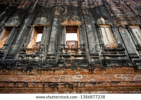 old building temple in Thailand  #1386877238