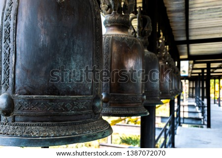Bells used to strike for good luck #1387072070