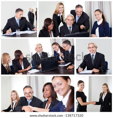 Set of various business images in the office #138717320