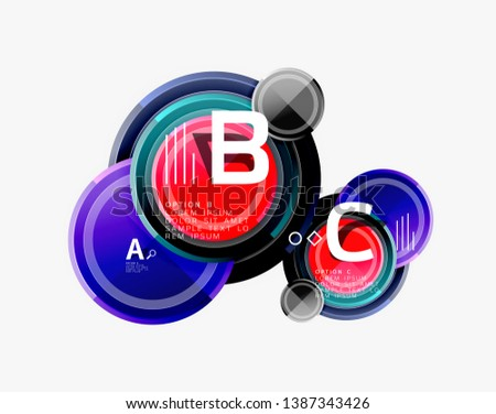 Circle geometric abstract background template for web banner, business presentation, branding, wallpaper. Vector design #1387343426
