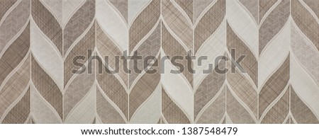 marble kitchen wall tile with abstract mosaic geometric pattern, vintage paper texture #1387548479