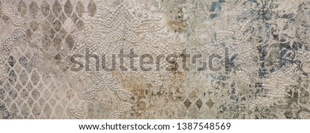 marble kitchen wall tile with abstract mosaic geometric pattern, vintage paper texture #1387548569