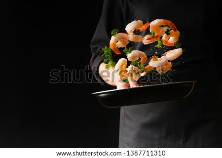 chef, background black, hotel, background, pan, action, freeze,  #1387711310