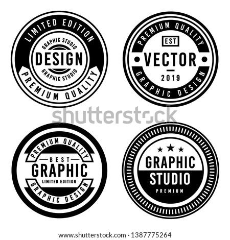 A Vintage badge design set. Royalty-Free Stock Photo #1387775264
