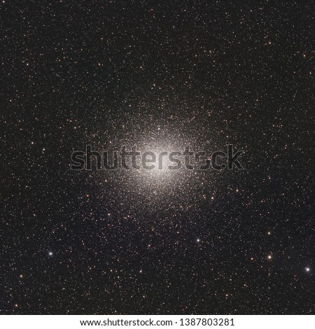 Omega Centauri or NGC 5139 is a globular cluster in the constellation of Centaurus, located at a distance of 15,800 light-years. Omega Centauri is the largest of globular cluster as seen from Earth. #1387803281