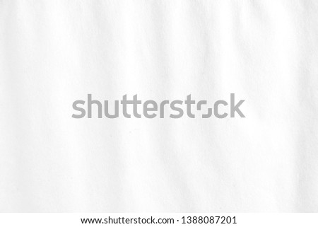 White blank wavy wrinkled paper texture background. #1388087201
