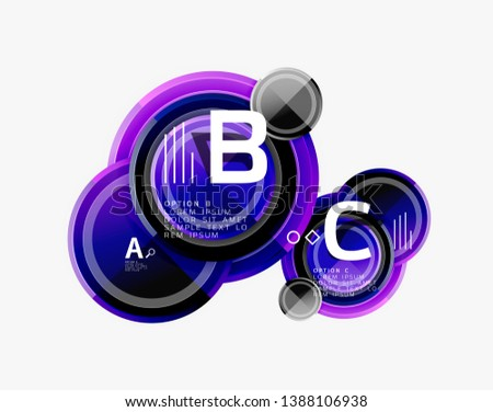 Circle geometric abstract background template for web banner, business presentation, branding, wallpaper. Vector design #1388106938