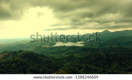 the lake between the green hills #1388246609