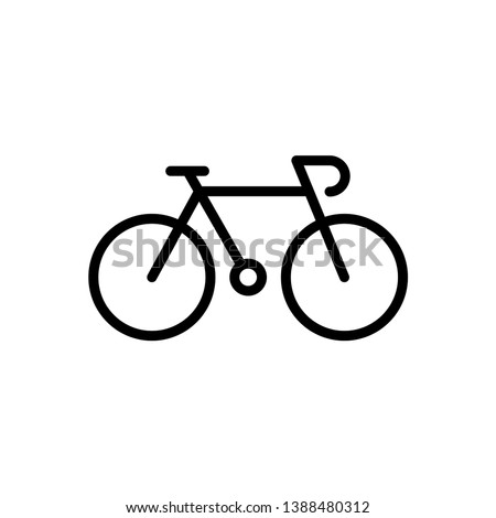 Bike icon vector logo template