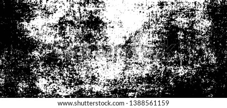 Old Ultrawide Grunge Seamless Black and White Texture. Old Ultrawide Grunge Seamless Dark Grunge Texture. Old Weathered Overlay Pattern Sample. Widescreen Background Dark Overlay Pattern #1388561159