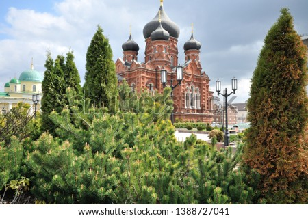 female monastery Orthodox Cathedral of Tula Russia building #1388727041