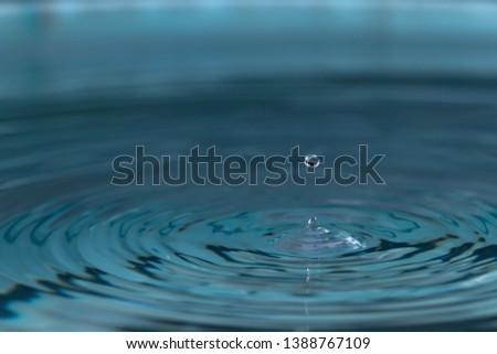 Water splash or water drop with lighting #1388767109