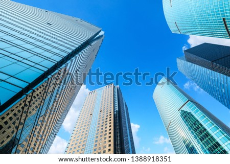 Contemporary architectural office building, urban landscape in Shanghai #1388918351