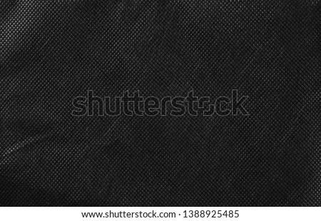 Synthetic black nylon fabric, cloth texture background #1388925485