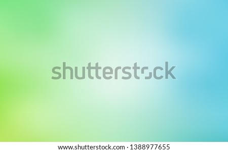 Light Blue, Green vector blurred background. Colorful illustration in abstract style with gradient. Elegant background for a brand book. Royalty-Free Stock Photo #1388977655