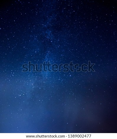 Starry sky universe background Galaxy of Milky Way, blue space background with stars, cosmos #1389002477