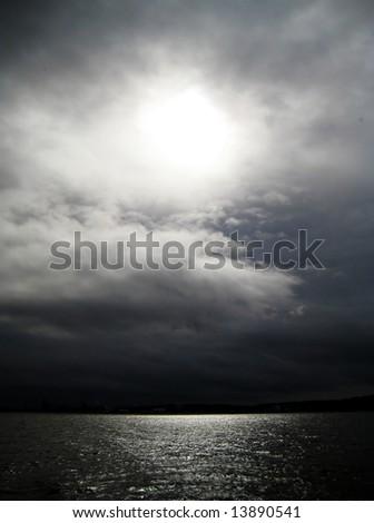 Eye of Light over Puget Sound #13890541