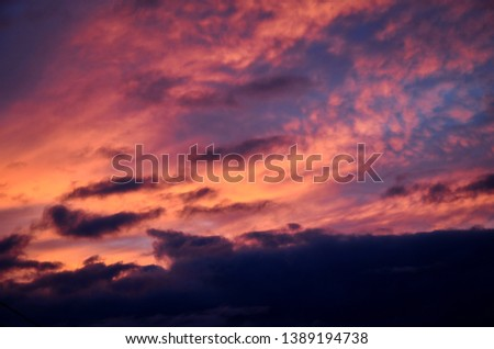 At this photo you can see the colourful and the most beautiful sunset.