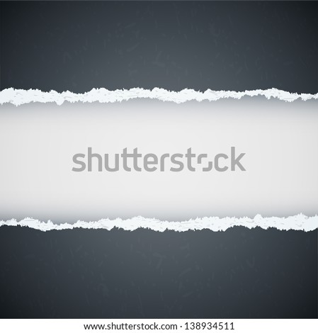 gray ripped paper. Raster copy of vector illustration #138934511