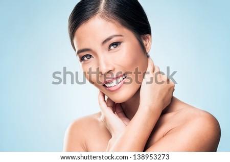 A beautiful Asian model posing. #138953273