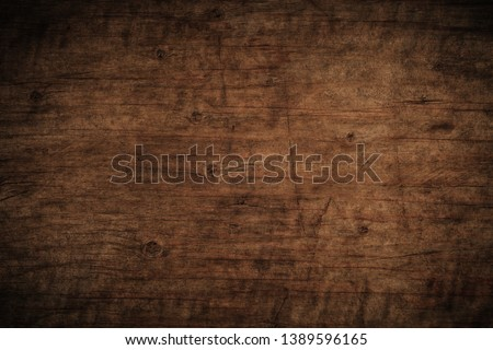 Old grunge dark textured wooden background,The surface of the old brown wood texture,top view brown wood paneling #1389596165