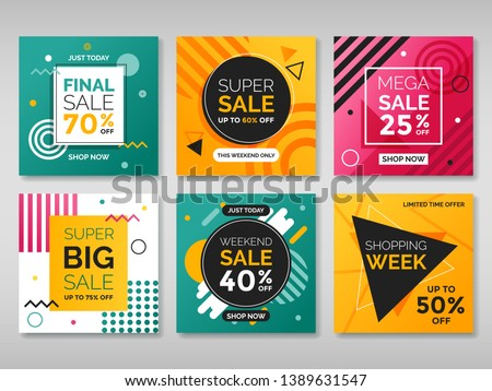 Set of promotion square banners. Vol.2 #1389631547