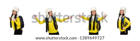 Young student isolated on the white background #1389649727