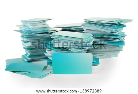 Business cards, isolated on white #138972389