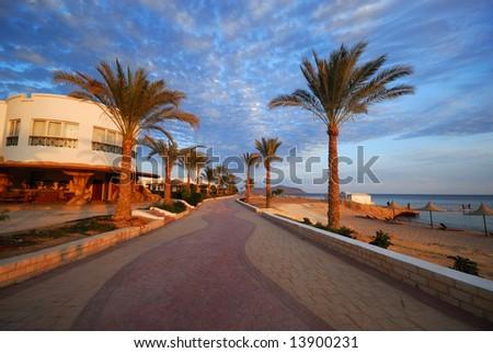 beautiful beach and ocean in sharm el sheikh, egypt #13900231