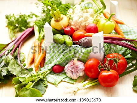 Fresh Vegetables in a Box #139015673