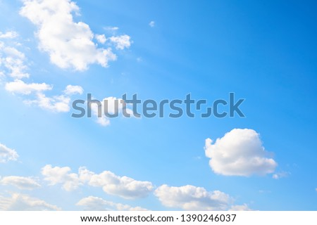 Air clouds in the blue sky. Nature background #1390246037