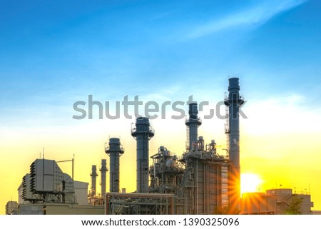 Industrial power plant,gas turbines, generating electricity - images #1390325096