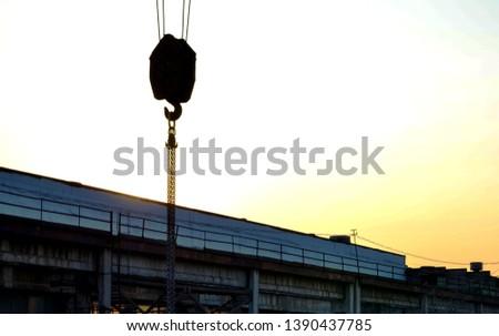 Lifting crane hook of the gantry bridge crane  #1390437785