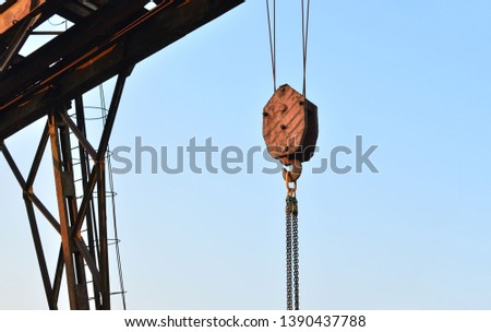 Lifting crane hook of the gantry bridge crane  #1390437788
