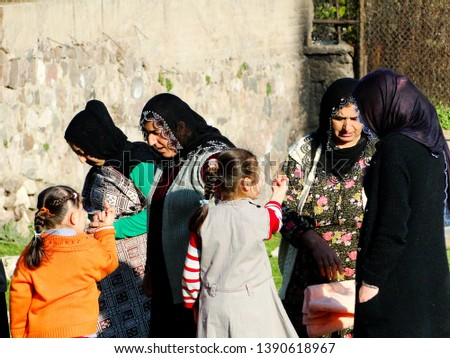 Kurdish people, family and tribe, living in the Kadifekale, the velvet castle in Turkish, the ancient castle on top of the hill located within the urban zone of Izmir, Turkey. 2010-3 #1390618967