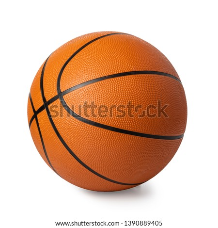 basketball ball isolated on white #1390889405