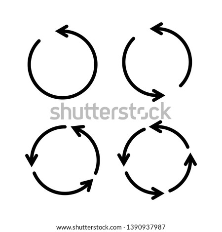 Set of black circle vector arrows. Vector Icons Royalty-Free Stock Photo #1390937987