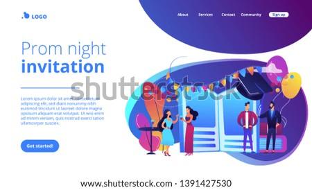 Website vibrant violet landing web page template. #1391427530