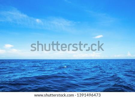 Beautiful sky and blue sea #1391496473