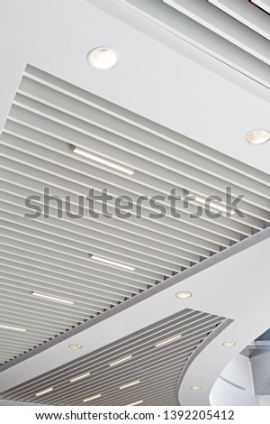 ceiling in a modern shopping center #1392205412