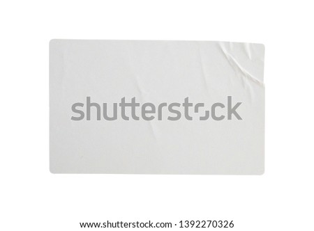 Sticker label isolated on white background with clipping path #1392270326