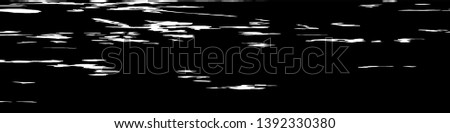 Monochrome Grunge Pattern. Abstract Black and White Texture with Scratched Lines, Spots and Blobs for Wallpaper, Print, Card. Modern Rough Halftone Pattern with Different Elements. #1392330380