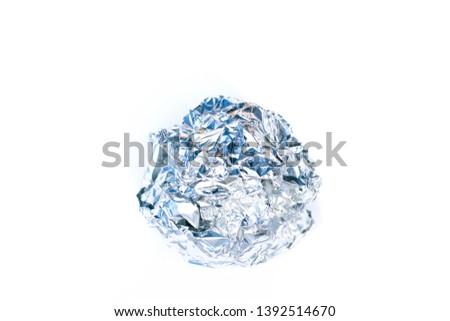 Aluminium foil ball trash isolated #1392514670