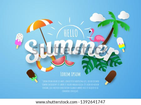 Spring Summer poster, banner  vector illustration and design for poster card, #1392641747
