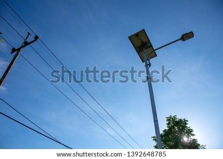 solar cell energy vs power line electricity #1392648785