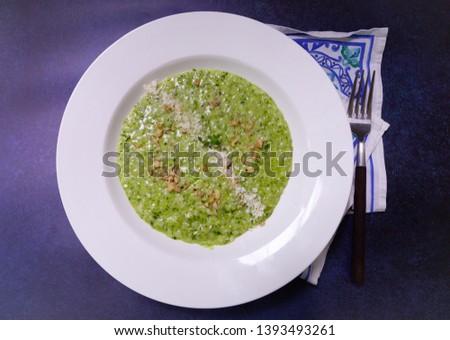 pesto risotto basil pesto healthy risotto #1393493261