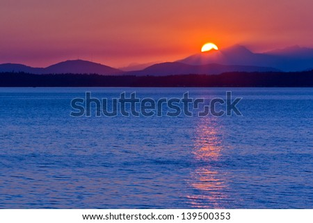 Sunset over mountains #139500353
