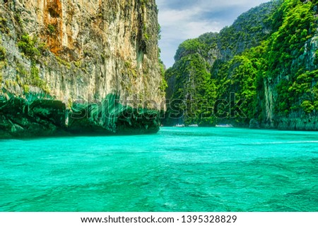 Phi Phi Island Boat Tour Turquoise Water Green Islands and Bat Caves  #1395328829