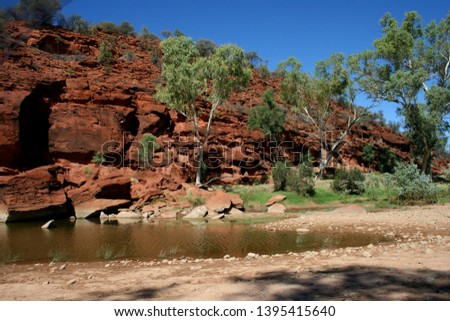 Drive through Finke Gorge National Park, Alice Springs, Northern Territory, Australia Royalty-Free Stock Photo #1395415640