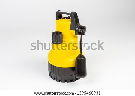 Submersible drainage pump for clear swimming pool water. #1395460931
